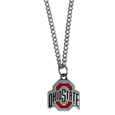 Ohio St. Buckeyes Chain Necklace with Small Charm - Make a statement with our collegiate chain necklaces. The 20 inch chain features a fully cast, high polish Ohio St. Buckeyes pendant with vivid enameled details. Perfect accessory for game day and nice enough to wear everyday! Thank you for shopping with CrazedOutSports.com