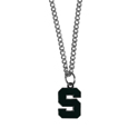 Michigan St. Spartans Chain Necklace with Small Charm - Make a statement with this collegiate Michigan St. Spartans Chain Necklace with Small Charm. The Michigan St. Spartans Chain Necklace with Small Charm comes with a 20 inch chain and features a fully cast, high polish Michigan St. Spartans pendant with vivid enameled details. This Michigan St. Spartans Chain Necklace with Small Charm is perfect accessory for game day and nice enough to wear everyday! Thank you for shopping with CrazedOutSports.com