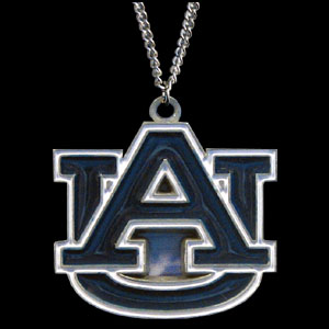 College Pendant - Auburn Tigers - Auburn Tigers college sculpted logo pendant on a chain necklace. A great way to show school spirit! Check out our entire line of  collegiate jewelry! Thank you for shopping with CrazedOutSports.com