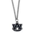 Auburn Tigers Chain Necklace with Small Charm - Make a statement with our collegiate chain necklaces. The 20 inch chain features a fully cast, high polish Auburn Tigers pendant with vivid enameled details. Perfect accessory for game day and nice enough to wear everyday! Thank you for shopping with CrazedOutSports.com