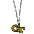 Georgia Tech Yellow Jackets Chain Necklace with Small Charm - Make a statement with our collegiate Georgia Tech Yellow Jackets chain necklaces. The 20 inch chain features a fully cast, high polish Georgia Tech Yellow Jackets pendant with vivid enameled details. Perfect accessory for game day and nice enough to wear everyday! Thank you for shopping with CrazedOutSports.com