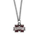 Mississippi St. Bulldogs Chain Necklace with Small Charm - Make a statement with our collegiate chain necklaces. The 20 inch chain features a fully cast, high polish Mississippi St. Bulldogs pendant with vivid enameled details. Perfect accessory for game day and nice enough to wear everyday! Thank you for shopping with CrazedOutSports.com