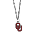 Oklahoma Sooners Chain Necklace with Small Charm - Make a statement with our collegiate chain necklaces. The 20 inch chain features a fully cast, high polish Oklahoma Sooners pendant with vivid enameled details. Perfect accessory for game day and nice enough to wear everyday! Thank you for shopping with CrazedOutSports.com