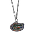 Florida Gators Chain Necklace with Small Charm - Make a statement with our collegiate chain necklaces. The 20 inch chain features a fully cast, high polish Florida Gators pendant with vivid enameled details. Perfect accessory for game day and nice enough to wear everyday! Thank you for shopping with CrazedOutSports.com