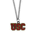 S. Carolina Gamecocks Chain Necklace with Small Charm - Make a statement with our collegiate chain necklaces. The 20 inch chain features a fully cast, high polish S. Carolina Gamecocks pendant with vivid enameled details. Perfect accessory for game day and nice enough to wear everyday! Thank you for shopping with CrazedOutSports.com
