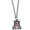 Arizona Wildcats Chain Necklace with Small Charm - Make a statement with our collegiate chain necklaces. The 20 inch chain features a fully cast, high polish Arizona Wildcats pendant with vivid enameled details. Perfect accessory for game day and nice enough to wear everyday! Thank you for shopping with CrazedOutSports.com