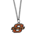 Oklahoma State Cowboys Chain Necklace with Small Charm - Make a statement with our collegiate chain necklaces. The 20 inch chain features a fully cast, high polish Oklahoma State Cowboys pendant with vivid enameled details. Perfect accessory for game day and nice enough to wear everyday! Thank you for shopping with CrazedOutSports.com
