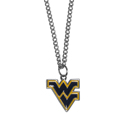 W. Virginia Mountaineers Chain Necklace with Small Charm - Make a statement with our collegiate chain necklaces. The 20 inch chain features a fully cast, high polish W. Virginia Mountaineers pendant with vivid enameled details. Perfect accessory for game day and nice enough to wear everyday! Thank you for shopping with CrazedOutSports.com