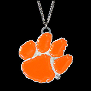College Pendant - Clemson Tigers -  college sculpted logo pendant on a chain necklace. A great way to show school spirit! Check out our entire line of  collegiate jewelry! Thank you for shopping with CrazedOutSports.com