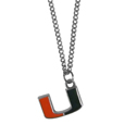 Miami Hurricanes Chain Necklace with Small Charm - Make a statement with this Miami Hurricanes Chain Necklace with Small Charm. The Miami Hurricanes Chain Necklace with Small Charm has a 20 inch chain that features a fully cast, high polish Miami Hurricanes pendant with vivid enameled details. Miami Hurricanes Chain Necklace with Small Charm is a perfect accessory for game day and nice enough to wear everyday! Thank you for shopping with CrazedOutSports.com