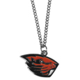 Oregon St. Beavers Chain Necklace with Small Charm - Make a statement with our collegiate chain necklaces. The 20 inch chain features a fully cast, high polish Oregon St. Beavers pendant with vivid enameled details. Perfect accessory for game day and nice enough to wear everyday! Thank you for shopping with CrazedOutSports.com