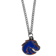 Boise St. Broncos Chain Necklace with Small Charm - Make a statement with our collegiate chain necklaces. The 20 inch chain features a fully cast, high polish Boise St. Broncos pendant with vivid enameled details. Perfect accessory for game day and nice enough to wear everyday! Thank you for shopping with CrazedOutSports.com