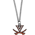 Virginia Cavaliers Chain Necklace with Small Charm - Make a statement with our collegiate chain necklaces. The 20 inch chain features a fully cast, high polish Virginia Cavaliers pendant with vivid enameled details. Perfect accessory for game day and nice enough to wear everyday! Thank you for shopping with CrazedOutSports.com