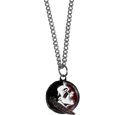 Florida St. Seminoles Chain Necklace with Small Charm - Make a statement with our collegiate chain necklaces. The 20 inch chain features a fully cast, high polish Florida St. Seminoles pendant with vivid enameled details. Perfect accessory for game day and nice enough to wear everyday! Thank you for shopping with CrazedOutSports.com