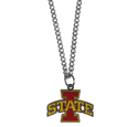 Iowa St. Cyclones Chain Necklace with Small Charm - Make a statement with our collegiate Iowa St. Cyclones chain necklace. The 20 inch chain features a fully cast, high polish Iowa St. Cyclones pendant with vivid enameled details. Perfect accessory for game day and nice enough to wear everyday! Thank you for shopping with CrazedOutSports.com