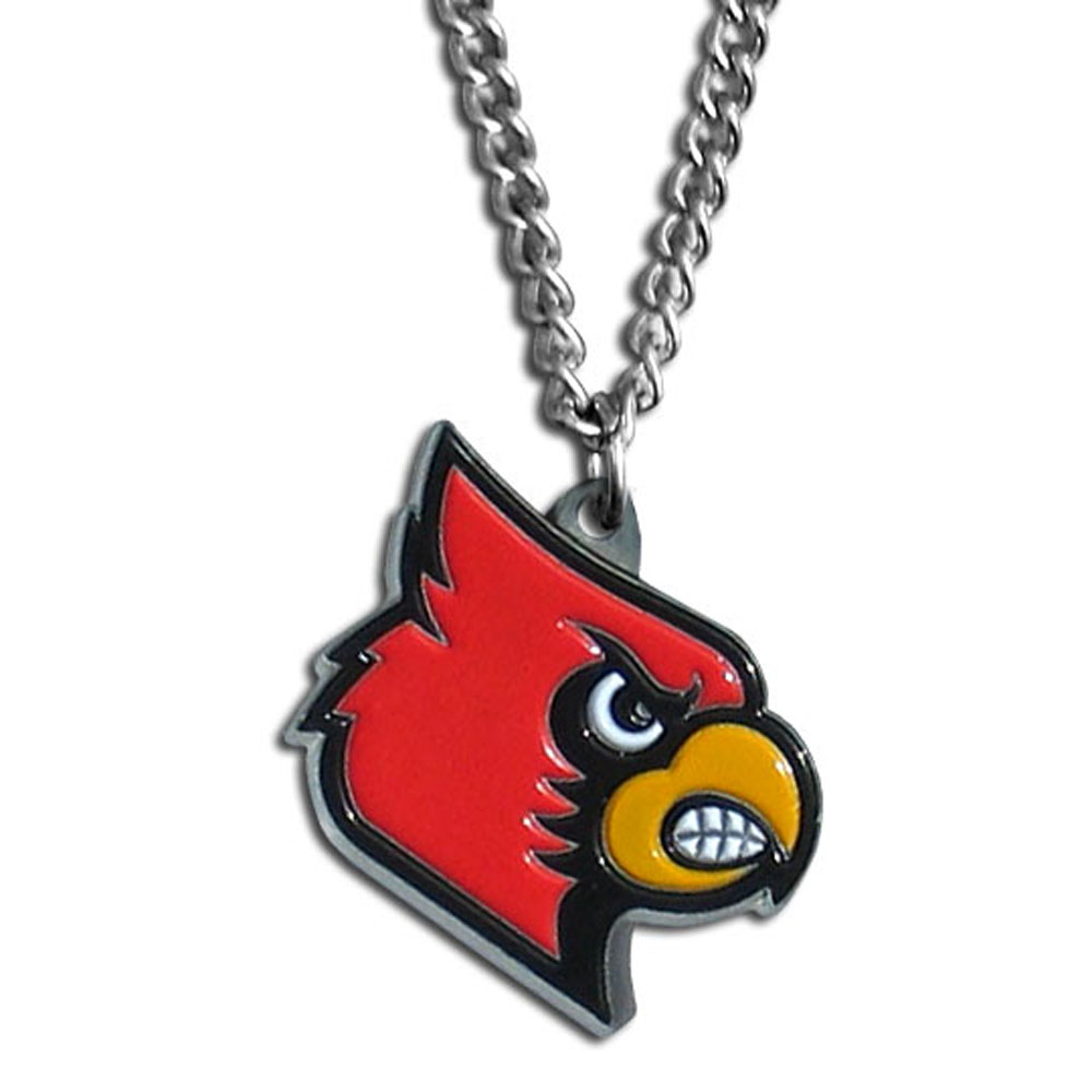 Louisville Cardinals Chain Necklace - Make a statement with our chain necklaces. The 22 inch chain features a fully cast, metal Louisville Cardinals pendant with vivid enameled details. Perfect accessory for game day and nice enough to wear everyday!