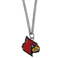 Louisville Cardinals Chain Necklace with Small Charm - Make a statement with our collegiate chain necklaces. The 20 inch chain features a fully cast, high polish Louisville Cardinals pendant with vivid enameled details. Perfect accessory for game day and nice enough to wear everyday! Thank you for shopping with CrazedOutSports.com