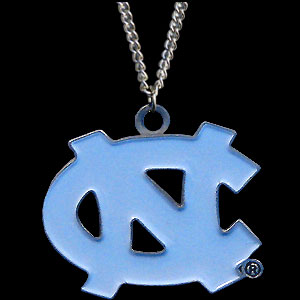 College Pendant - North Carolina Tar Heels -  college sculpted logo pendant on a chain necklace. A great way to show school spirit! Check out our entire line of  collegiate jewelry! Thank you for shopping with CrazedOutSports.com