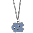 N. Carolina Tar Heels Chain Necklace with Small Charm - Make a statement with our collegiate chain necklaces. The 20 inch chain features a fully cast, high polish N. Carolina Tar Heels pendant with vivid enameled details. Perfect accessory for game day and nice enough to wear everyday! Thank you for shopping with CrazedOutSports.com