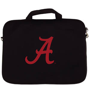 "Alabama Crimson Tide Lap Top Case - Our Alabama Crimson Tide neoprene laptop bags is designed to fit 15"" and most 17"" laptops and are approved to pass airport security without removing the equipment from the bag. Some 17"" laptops are designed with a wider border and may not fit this bag. (inner bag dimensions: 11 ¾""t x 15""w) Thank you for shopping with CrazedOutSports.com"