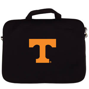 "Tennessee Lap Top Case - Our Tennessee Volunteers neoprene laptop bags is designed to fit 15"" and most 17"" laptops and are approved to pass airport security without removing the equipment from the bag. Some 17"" laptops are designed with a wider border and may not fit this bag. (inner bag dimensions: 11 ¾""t x 15""w) Thank you for shopping with CrazedOutSports.com"