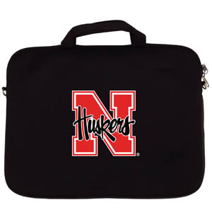 "Nebraska Lap Top Case - Our Nebraska Cornhuskers neoprene laptop bags is designed to fit 15"" and most 17"" laptops and are approved to pass airport security without removing the equipment from the bag. Some 17"" laptops are designed with a wider border and may not fit this bag. (inner bag dimensions: 11 ¾""t x 15""w) Thank you for shopping with CrazedOutSports.com"