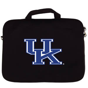 "Kentucky Lap Top Case - Our Kentucky Wildcats neoprene laptop bags is designed to fit 15"" and most 17"" laptops and are approved to pass airport security without removing the equipment from the bag. Some 17"" laptops are designed with a wider border and may not fit this bag. (inner bag dimensions: 11 ¾""t x 15""w) Thank you for shopping with CrazedOutSports.com"