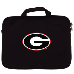 "Georgia Bulldogs Lap Top Case - Our Georgia Bulldogs neoprene laptop Case is designed to fit 15"" and most 17"" laptops and are approved to pass airport security without removing the equipment from the bag. Some 17"" laptops are designed with a wider border and may not fit this bag. (inner bag dimensions: 11 ¾""t x 15""w) Thank you for shopping with CrazedOutSports.com"