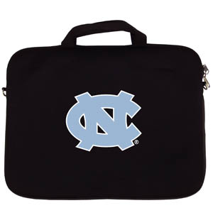 "N. Carolina Lap Top Case - Our N. Carolina Tar Heels neoprene laptop bags is designed to fit 15"" and most 17"" laptops and are approved to pass airport security without removing the equipment from the bag. Some 17"" laptops are designed with a wider border and may not fit this bag. (inner bag dimensions: 11 ¾""t x 15""w) Thank you for shopping with CrazedOutSports.com"