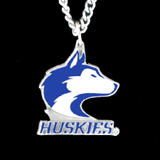 College Chain Necklace & Pendant - Washington Huskies -  college chain necklace with enameled pewter team pendant. Check out our entire line of  jewelry! Thank you for shopping with CrazedOutSports.com