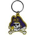 East Carolina Pirates Flex Key Chain - Our fun, flexible East Carolina Pirates key chains are made of a rubbery material that is layered to create a bright, textured logo.