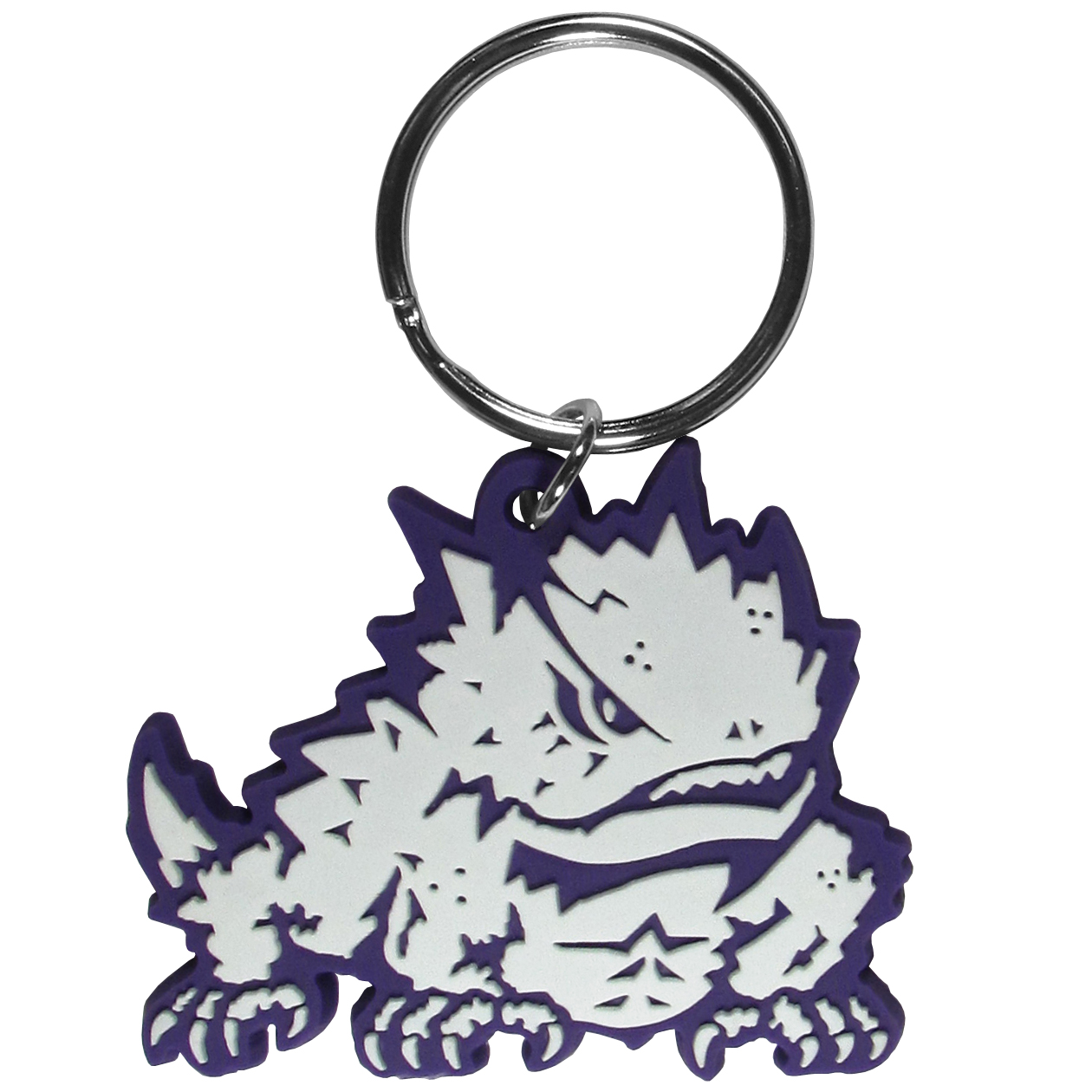 TCU Horned Frogs Flex Key Chain - Our fun, flexible TCU Horned Frogs key chains are made of a rubbery material that is layered to create a bright, textured logo.