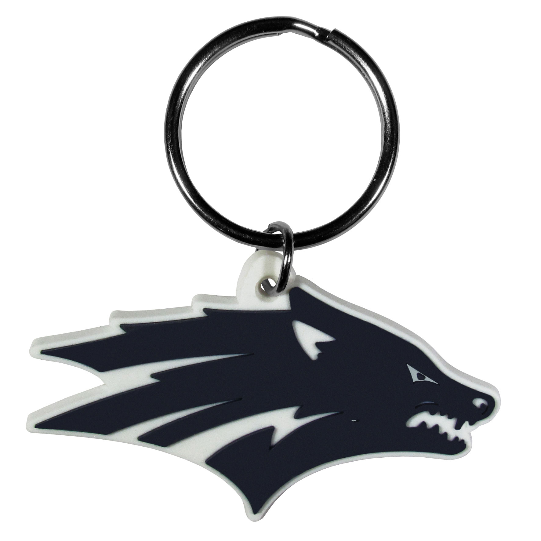 Nevada Wolf pack Flex Key Chain - These fun, flexible Nevada Wolf pack key chains are made of a rubbery material that is layered to create a bright, textured logo.