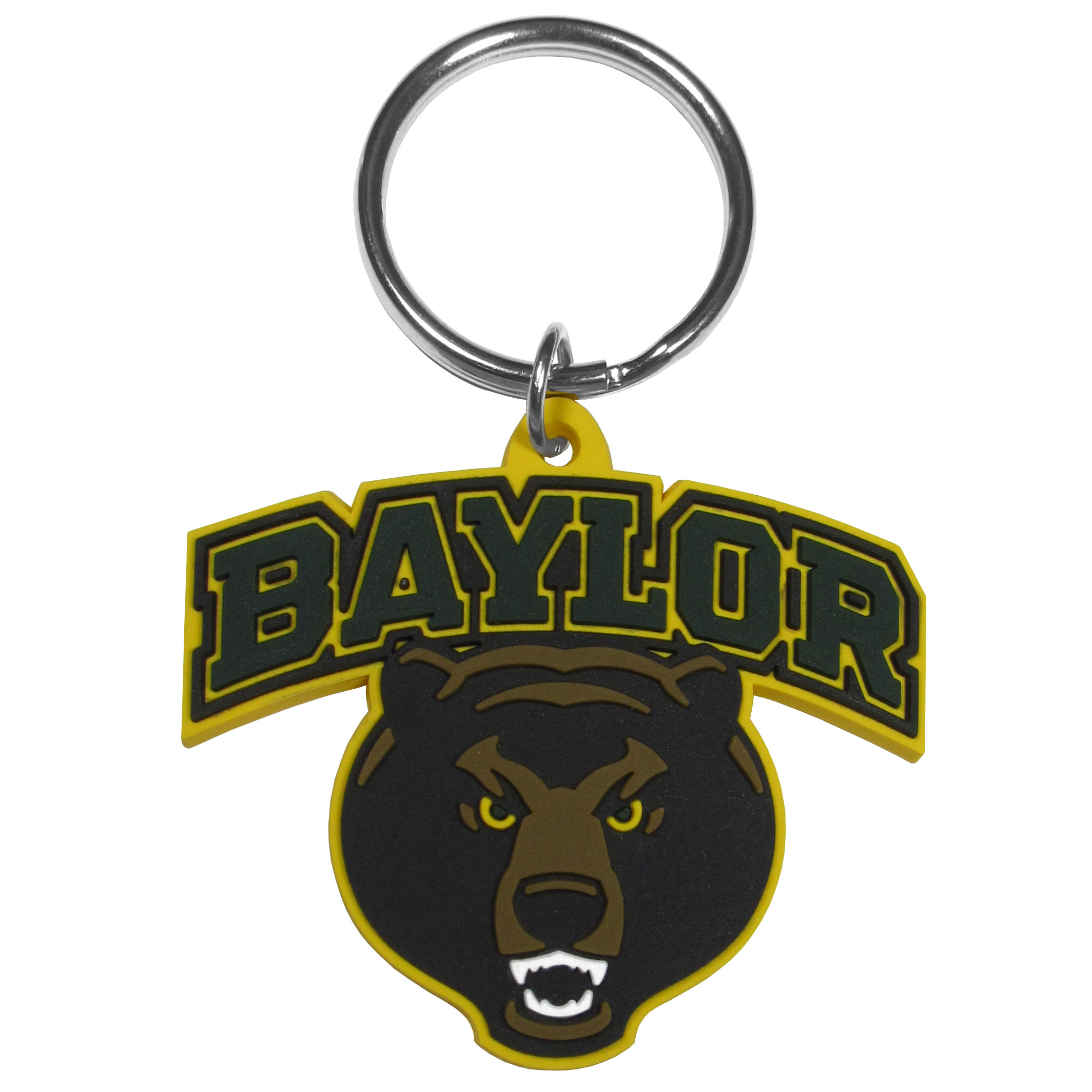 Baylor Bears Flex Key Chain - Our fun, flexible Baylor Bears key chains are made of a rubbery material that is layered to create a bright, textured logo.