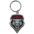 New Mexico Lobos Flex Key Chain - Our fun, flexible New Mexico Lobos key chains are made of a rubbery material that is layered to create a bright, textured logo.
