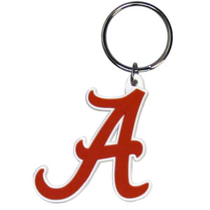 Alabama Crimson Tide Flexi Key Chain - Our College Flexi key chains are made of a rubbery material that is layered cut in the Alabama Crimson Tide primary logo. Thank you for shopping with CrazedOutSports.com