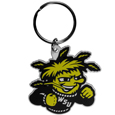 Wichita St. Shockers Flex Key Chain - Our fun, flexible Wichita St. Shockers key chains are made of a rubbery material that is layered to create a bright, textured logo.