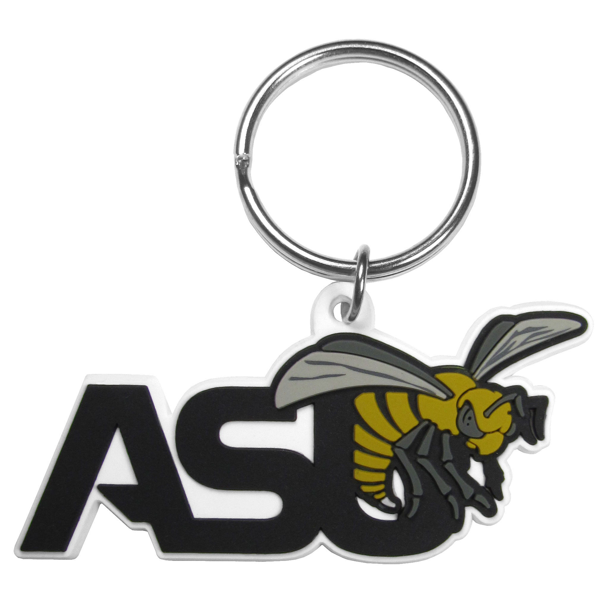 Alabama St. Hornets Flex Key Chain - Our fun, flexible Alabama St. Hornets key chains are made of a rubbery material that is layered to create a bright, textured logo.