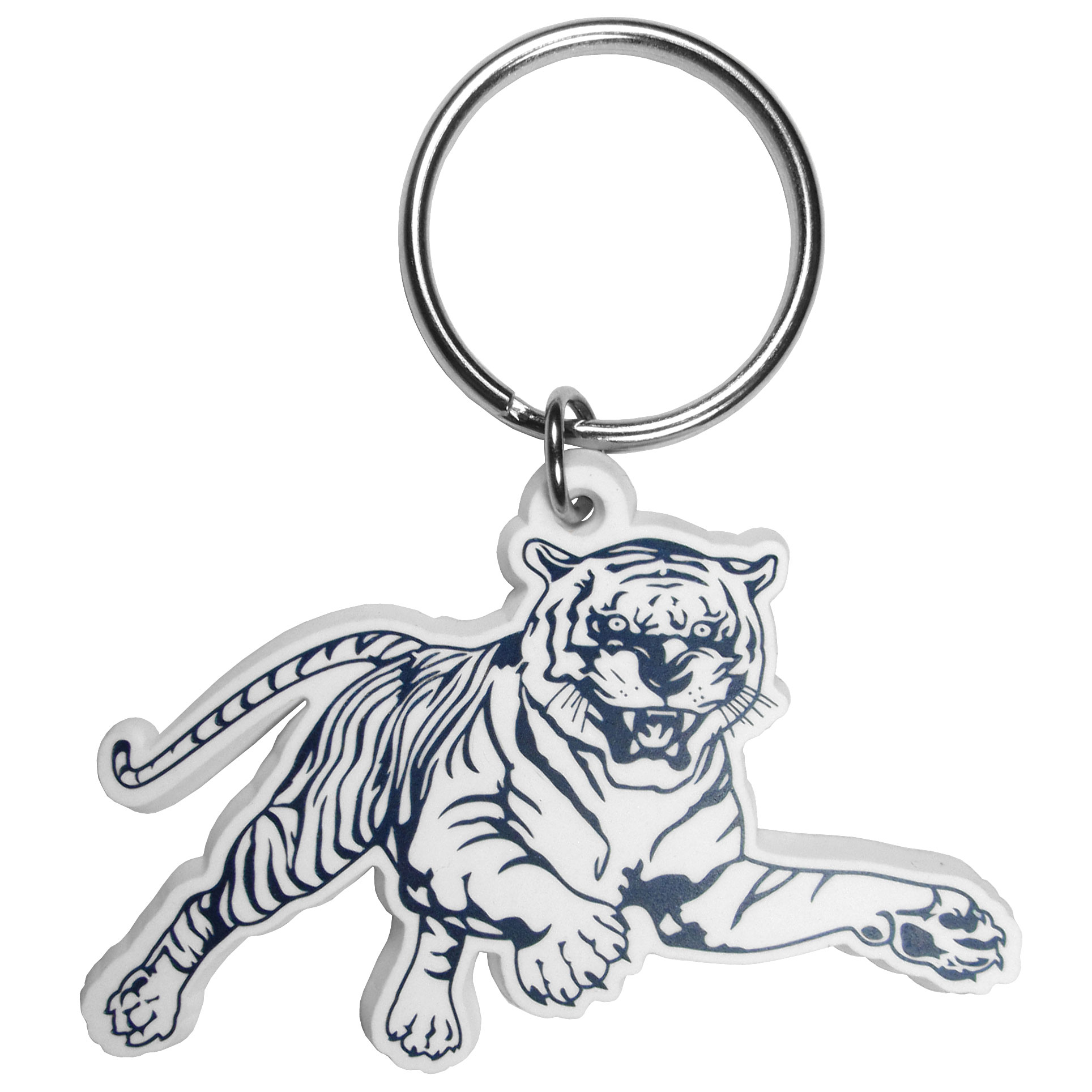 Jackson St. Tigers Flex Key Chain - Our fun, flexible Jackson St. Tigers key chains are made of a rubbery material that is layered to create a bright, textured logo.