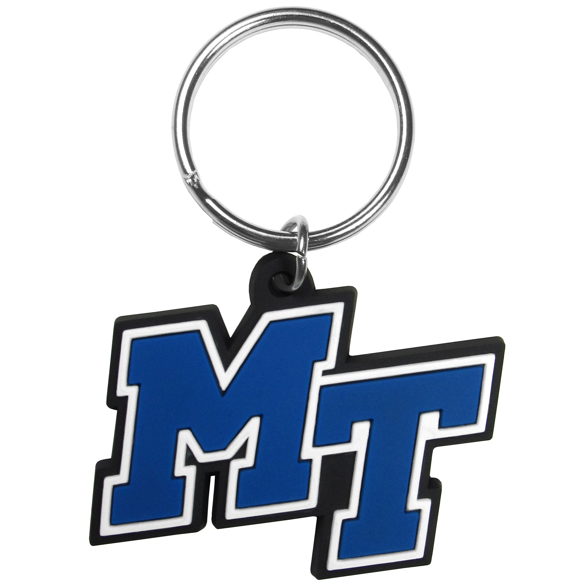 Mid Tennessee St. Blue Raiders Flex Key Chain - Our fun, flexible Mid Tennessee St. Blue Raiders key chains are made of a rubbery material that is layered to create a bright, textured logo.
