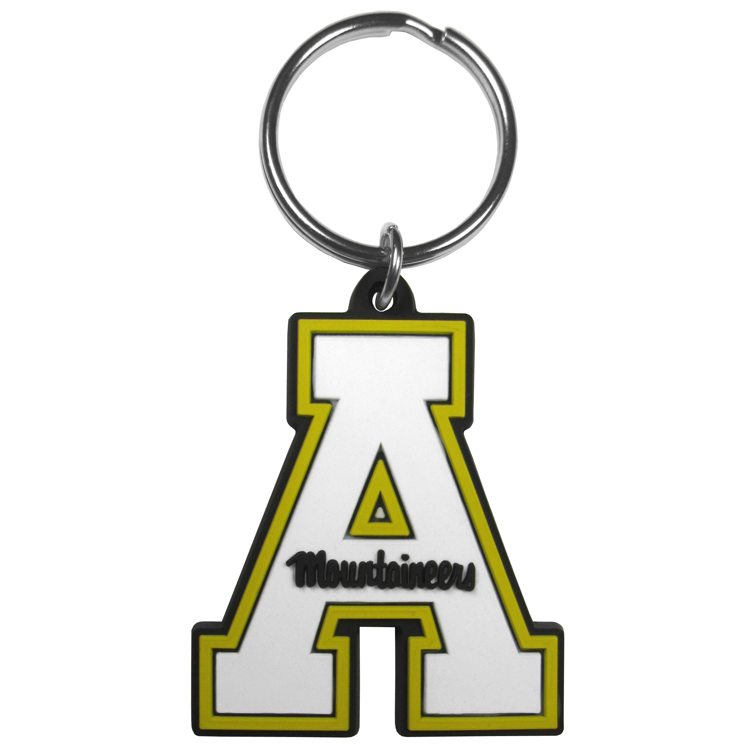 Appalachian St. Mountaineers Flex Key Chain - Our fun, flexible Appalachian St. Mountaineers key chains are made of a rubbery material that is layered to create a bright, textured logo.