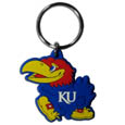 Kansas Jayhawks Flex Key Chain - This Kansas Jayhawks College Flexi key chain is made of a rubbery material that is layered cut in the Kansas Jayhawks primary logo. Thank you for shopping with CrazedOutSports.com