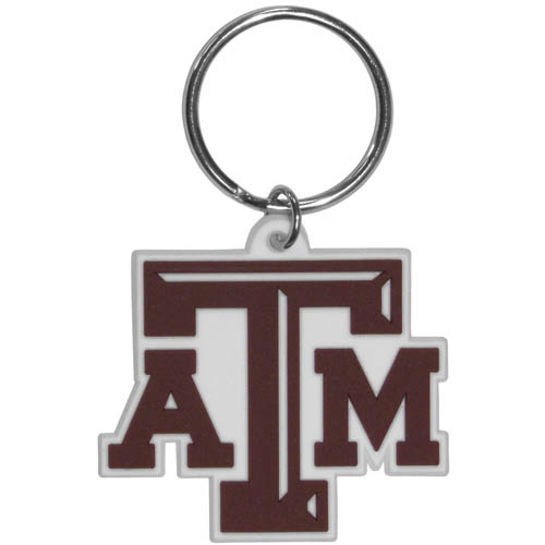 Texas A and M Aggies Flex Key Chain - Our College Flexi key chains are made of a rubbery material that is layered cut in the Texas A & M Aggies primary logo. Thank you for shopping with CrazedOutSports.com