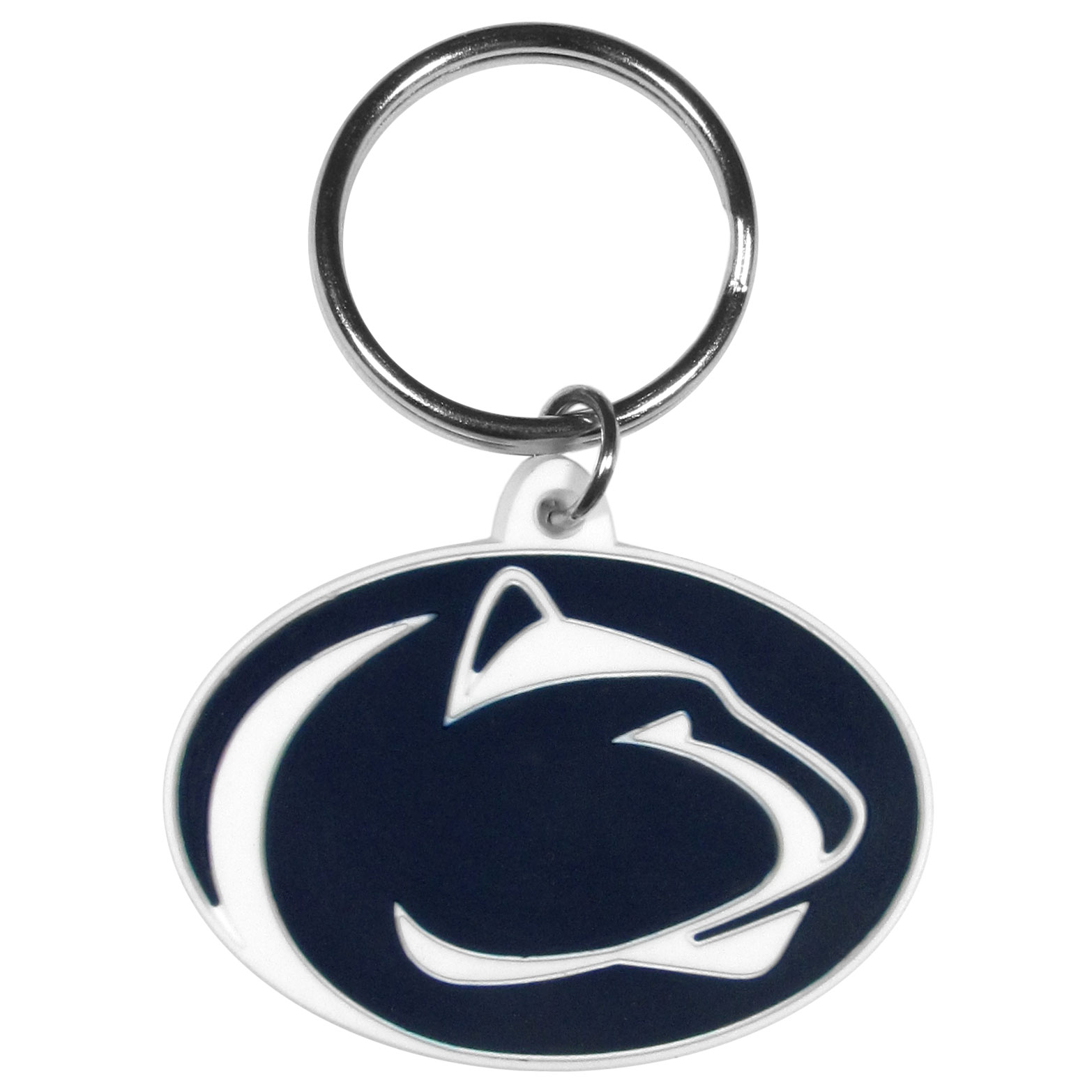 Penn St. Flexi Key Chain - Our College Flexi key chains are made of a rubbery material that is layered cut in the Penn St. Nittany Lions primary logo. Thank you for shopping with CrazedOutSports.com