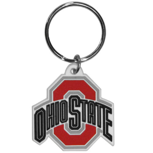 Ohio St. Buckeyes Flex Key Chain - Our College Flexi key chains are made of a rubbery material that is layered cut in the Ohio St. Buckeyes primary logo. Thank you for shopping with CrazedOutSports.com
