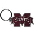 Missippi St. Bulldogs Flex Key Chain - Our College Flexi key chains are made of a rubbery material that is layered cut in the Missippi St. Bulldogs primary logo. Thank you for shopping with CrazedOutSports.com