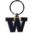 Washington Huskies Flex Key Chain - Our College Flexi key chains are made of a rubbery material that is layered cut in the Washington Huskies primary logo. Thank you for shopping with CrazedOutSports.com