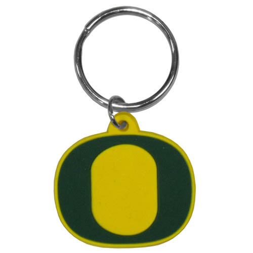 Oregon Ducks Flex Key Chain - Our College Flexi key chains are made of a rubbery material that is layered cut in the Duke Blue Devils primary logo. Thank you for shopping with CrazedOutSports.com