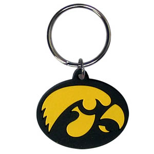 Iowa Hawkeyes Flexi Key Chain - Iowa Hawkeyes College Flexi key chains are made of a rubbery material that is layered cut in the Iowa Hawkeyes primary logo. Thank you for shopping with CrazedOutSports.com