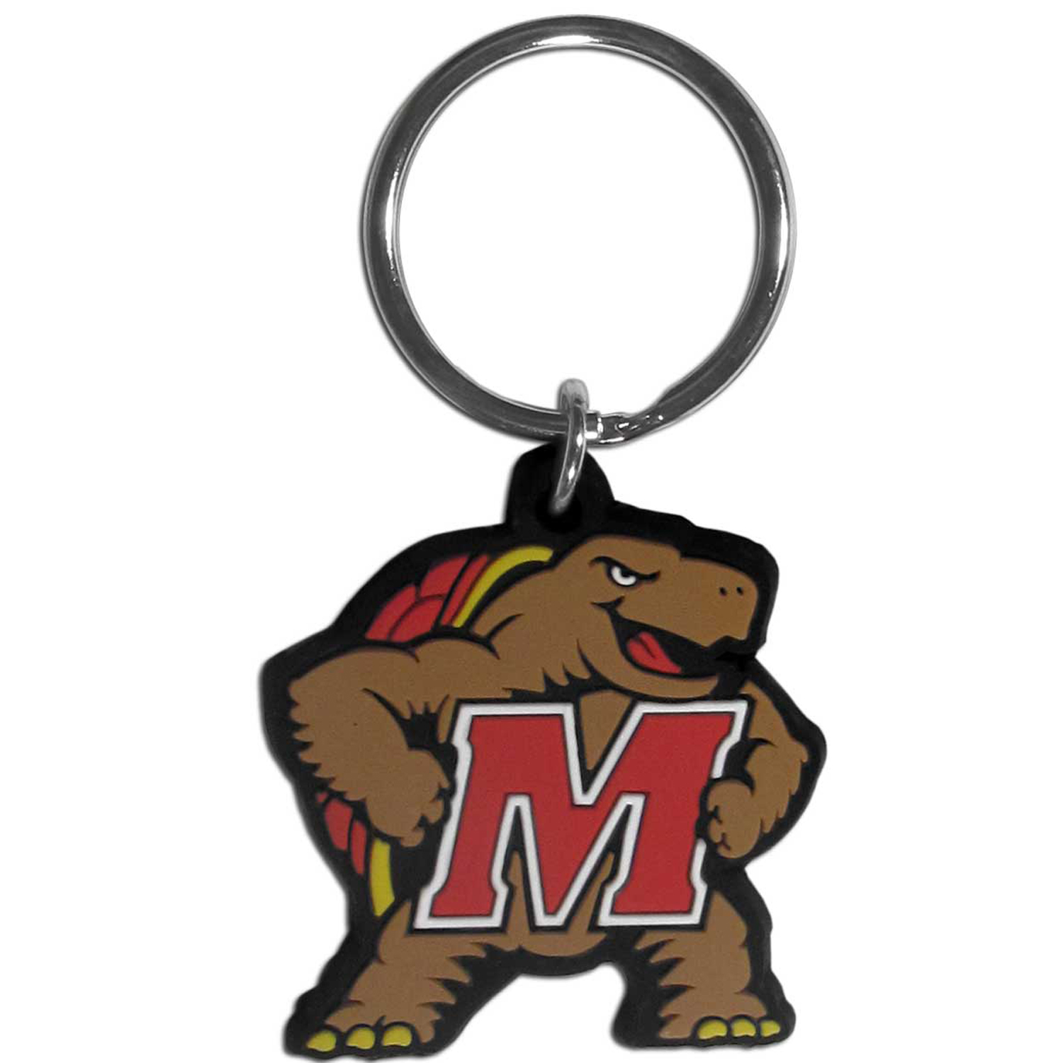 Maryland Terrapins Flex Key Chain - Our fun, flexible Maryland Terrapins key chains are made of a rubbery material that is layered to create a bright, textured logo.